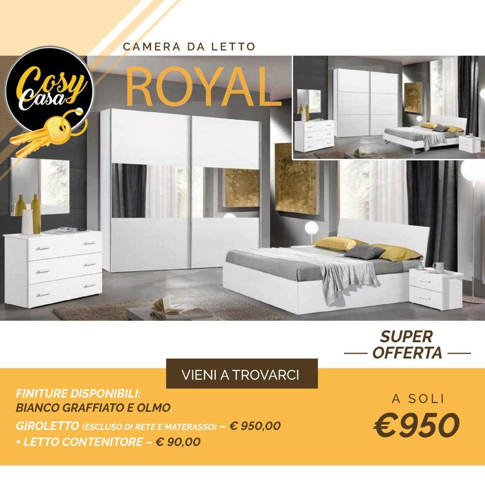 Offerta arredamento camera da letto Royal
